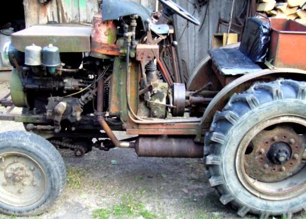 Самодельный трактор УД-2 4Х4 с