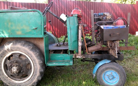 Самодельный трактор из запорожца